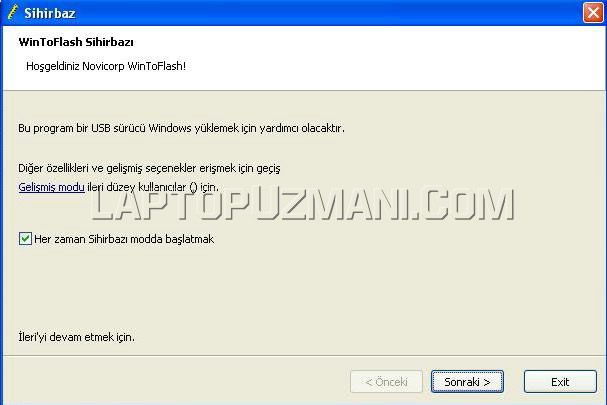 Flash Disk Windows Kurulum 1